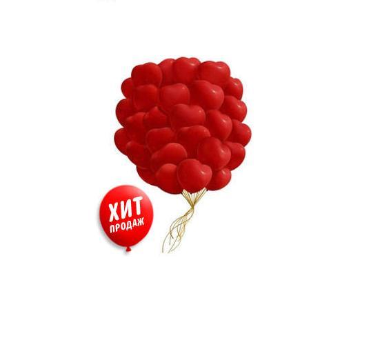 25 красных сердец